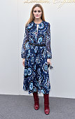 Olivia Palermo attends the Burberry show during London Fashion Week Autumn/Winter 2016/17 at Kensington Gardens on February 22 2016 in London England