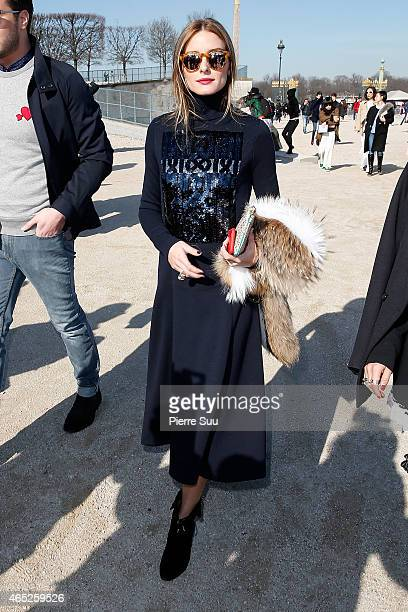 Olivia Palermo attends the Carven show as part of the Paris Fashion Week Womenswear Fall/Winter 2015/2016 on March 5 2015 in Paris France