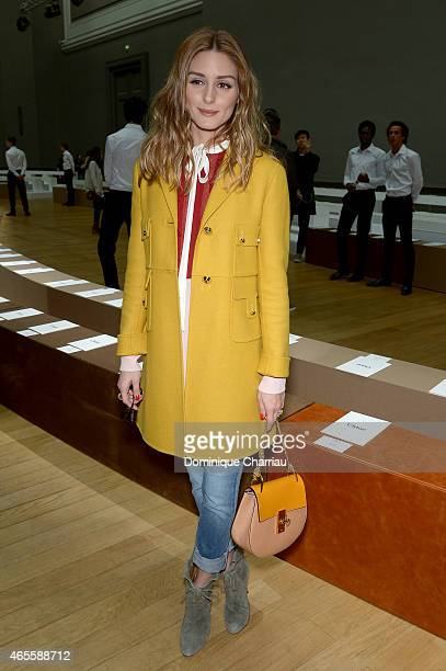 Olivia Palermo attends the Chloe show as part of the Paris Fashion Week Womenswear Fall/Winter 2015/2016 on March 8 2015 in Paris France