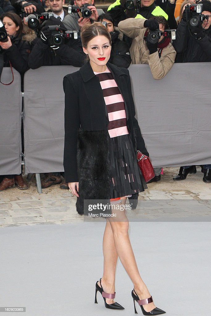 Olivia palermo attends the 'Christian Dior' Fall/Winter 2013 Ready-to-Wear show as part of Paris Fashion Week on March 1, 2013 in Paris, France.