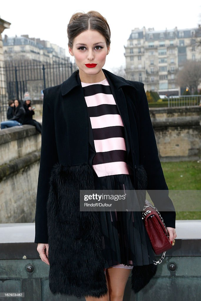 <a gi-track='captionPersonalityLinkClicked' href=/galleries/search?phrase=Olivia+Palermo&family=editorial&specificpeople=2639086 ng-click='$event.stopPropagation()'>Olivia Palermo</a> attends the Christian Dior Fall/Winter 2013 Ready-to-Wear show as part of Paris Fashion Week on March 1, 2013 in Paris, France.