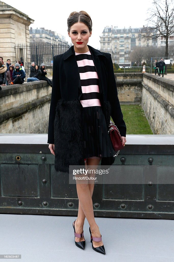 Olivia Palermo attends the Christian Dior Fall/Winter 2013 Ready-to-Wear show as part of Paris Fashion Week on March 1, 2013 in Paris, France.