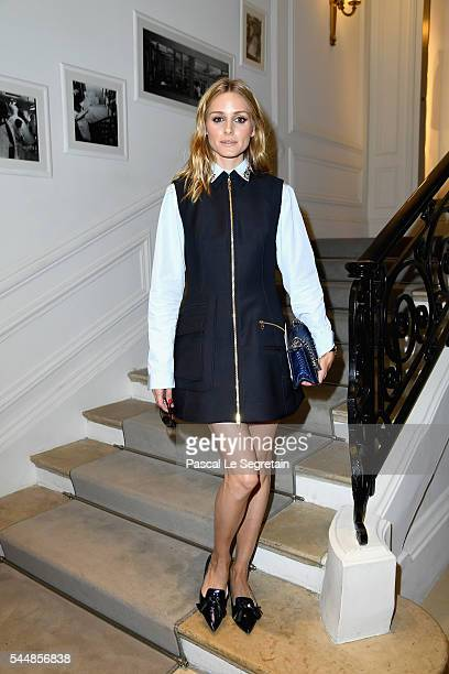 Olivia Palermo attends the Christian Dior Haute Couture Fall/Winter 20162017 show as part of Paris Fashion Week at 30 Avenue Montaigne on July 4 2016...