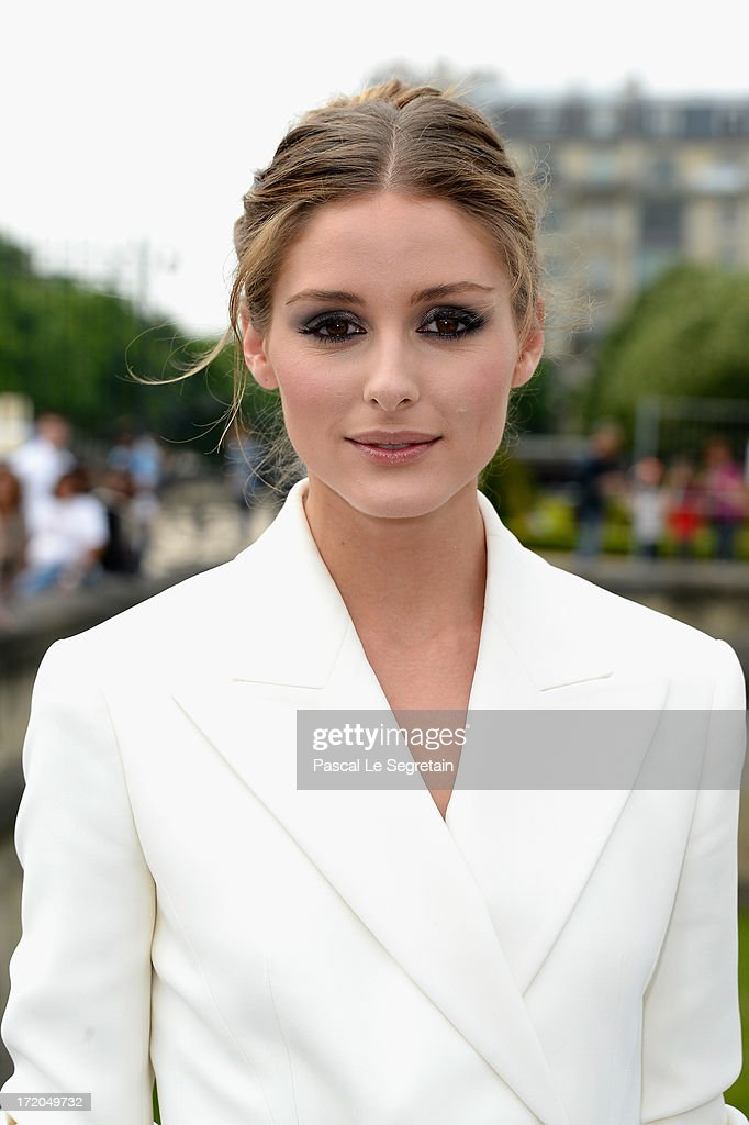 Olivia Palermo attends the Christian Dior show as part of Paris Fashion Week Haute-Couture Fall/Winter 2013-2014 at Hotel Des Invalides on July 1, 2013 in Paris, France.