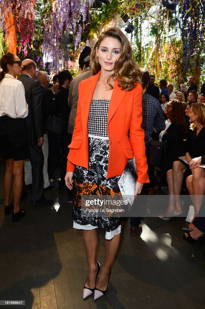 <a gi-track='captionPersonalityLinkClicked' href=/galleries/search?phrase=Olivia+Palermo&family=editorial&specificpeople=2639086 ng-click='$event.stopPropagation()'>Olivia Palermo</a> attends the Christian Dior show as part of the Paris Fashion Week Womenswear Spring/Summer 2014 at Musee Rodin on September 27, 2013 in Paris, France.