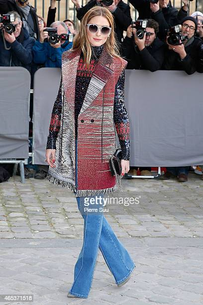Olivia Palermo attends the Christian Dior show as part of the Paris Fashion Week Womenswear Fall/Winter 2015/2016 on March 6 2015 in Paris France