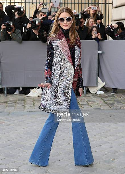 Olivia Palermo attends the Christian Dior show at the Cour Carree du Louvre during Paris Fashion Week Fall Winter 2015/2016 on March 6 2015 in Paris...