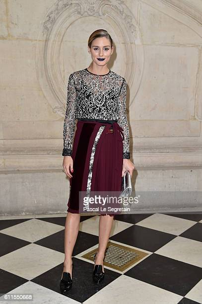 Olivia Palermo attends the Christian Dior show of the Paris Fashion Week Womenswear Spring/Summer 2017 on September 30 2016 in Paris France