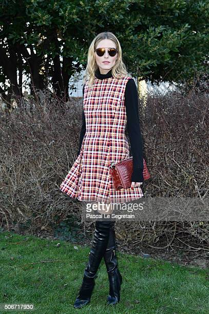 Olivia Palermo attends the Christian Dior Spring Summer 2016 show as part of Paris Fashion Week on January 25 2016 in Paris France