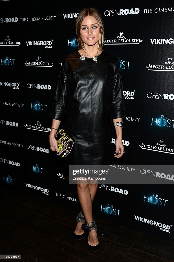 <a gi-track='captionPersonalityLinkClicked' href=/galleries/search?phrase=Olivia+Palermo&family=editorial&specificpeople=2639086 ng-click='$event.stopPropagation()'>Olivia Palermo</a> attends The Cinema Society and Jaeger-LeCoultre screening of Open Road Films' 'The Host' at Tribeca Grand Hotel on March 27, 2013 in New York City.