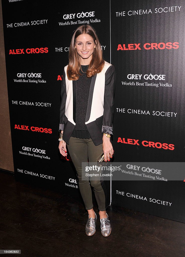 <a gi-track='captionPersonalityLinkClicked' href=/galleries/search?phrase=Olivia+Palermo&family=editorial&specificpeople=2639086 ng-click='$event.stopPropagation()'>Olivia Palermo</a> attends The Cinema Society & Grey Goose Host A Screening Of 'Alex Cross' at Tribeca Grand Hotel on October 18, 2012 in New York City.