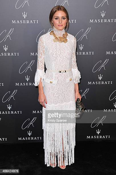 Olivia Palermo attends the CR Fashion Book Issue No5 Launch Party Hosted by Carine Roitfeld and Stephen Gan at The Peninsula Paris on September 30...