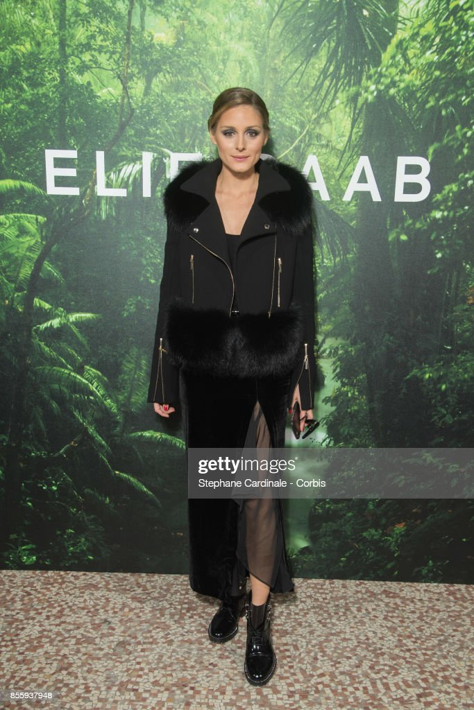 Olivia Palermo attends the Elie Saab show as part of the Paris Fashion Week Womenswear Spring/Summer 2018 at on September 30, 2017 in Paris, France.