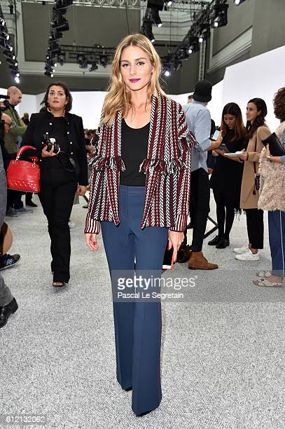 Olivia Palermo attends the Giambattista Valli show as part of the Paris Fashion Week Womenswear Spring/Summer 2017 on October 3 2016 in Paris France