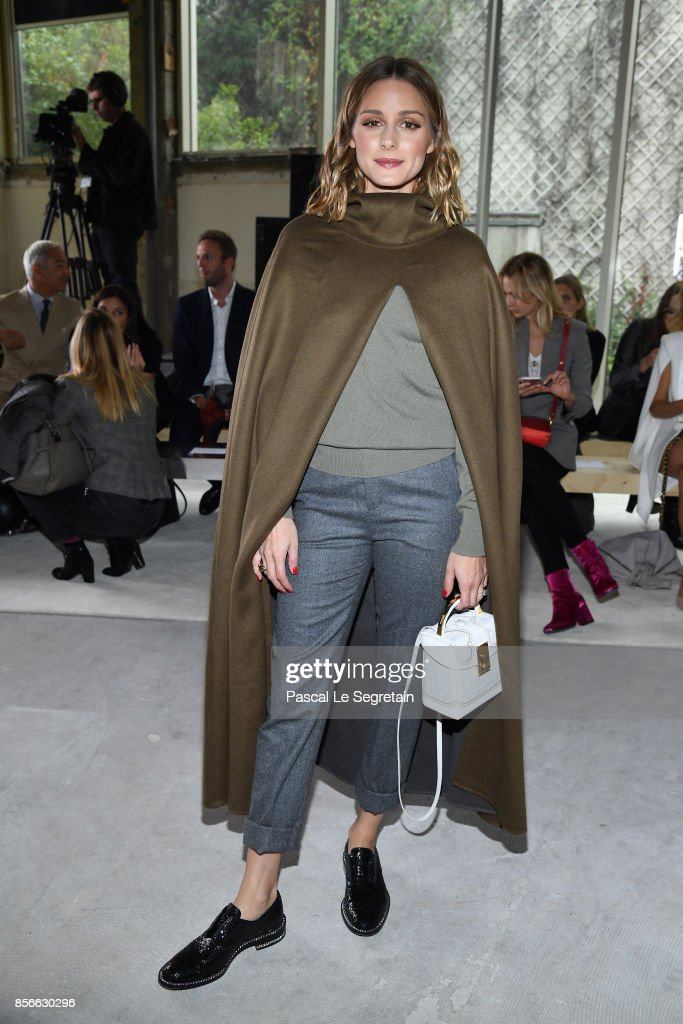 Olivia Palermo attends the Giambattista Valli show as part of the Paris Fashion Week Womenswear Spring/Summer 2018 on October 2, 2017 in Paris, France.