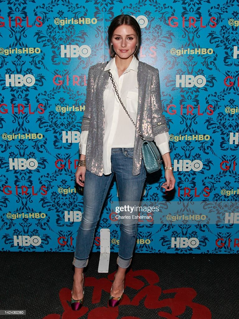 Olivia Palermo attends the HBO with The Cinema Society host the New York premiere of HBO's 'Girls' at the School of Visual Arts Theater on April 4...