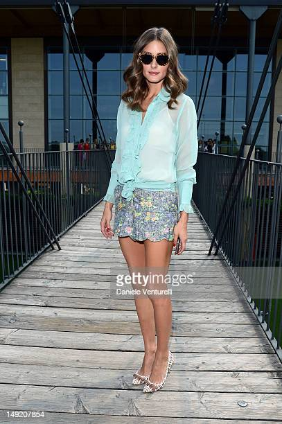 Olivia Palermo attends the 'Intimissimi Fall/Winter 2013 Fashion Show' on July 25 2012 in Verona Italy