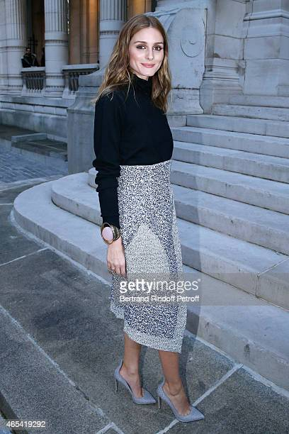 Olivia Palermo attends the Jeanne Lanvin Retrospective Opening Ceremony at Palais Galliera on March 6 2015 in Paris France
