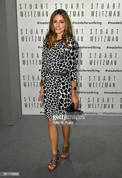 Olivia Palermo attends the Kate Moss Celebrates Stuart Weitzman Flagship Store Opening Designed By Zaha Hadid as a part of Milan Fashion Week...