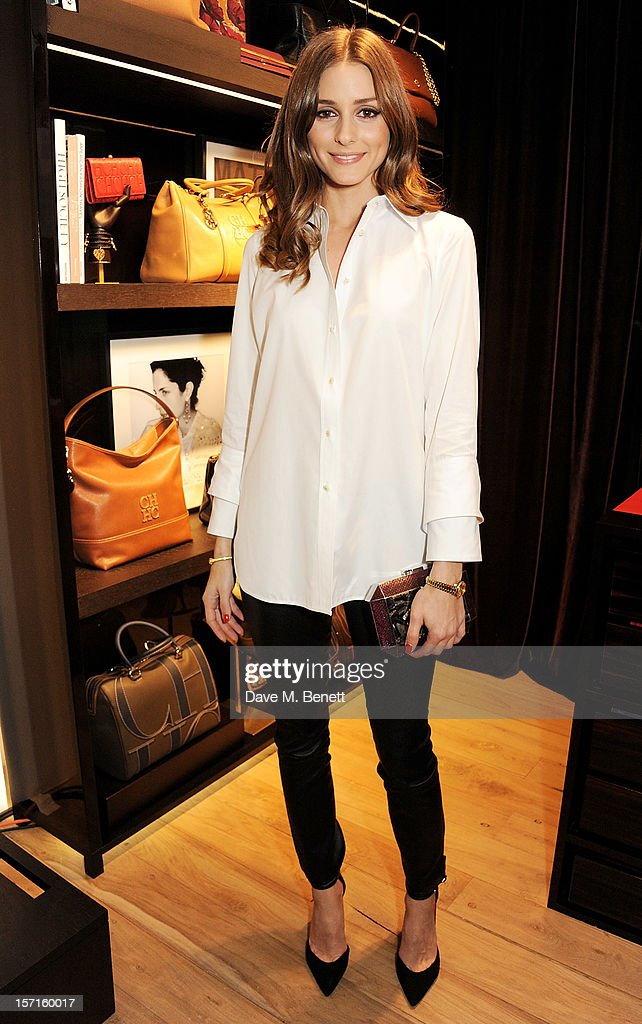 Olivia Palermo attends the launch of CH Carolina Herrera's White Shirt Collection at their new Fulham Road store on November 29 2012 in London England