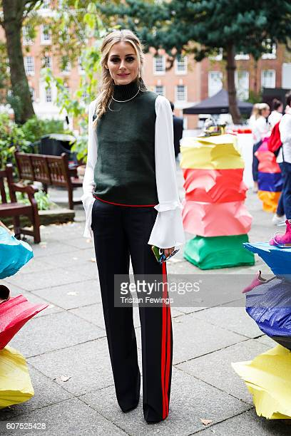 Olivia Palermo attends the Malone Soiliers presentation during London Fashion Week Spring/Summer collections 2017 on September 18 2016 at Soho Square...