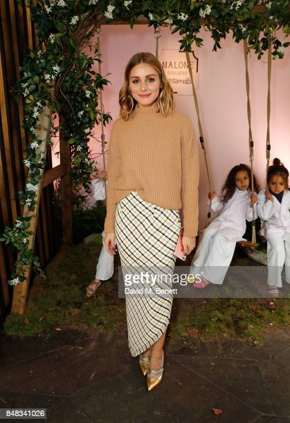 Olivia Palermo attends the Malone Souliers London Fashion Week SS18 Presentation on September 17 2017 in London England
