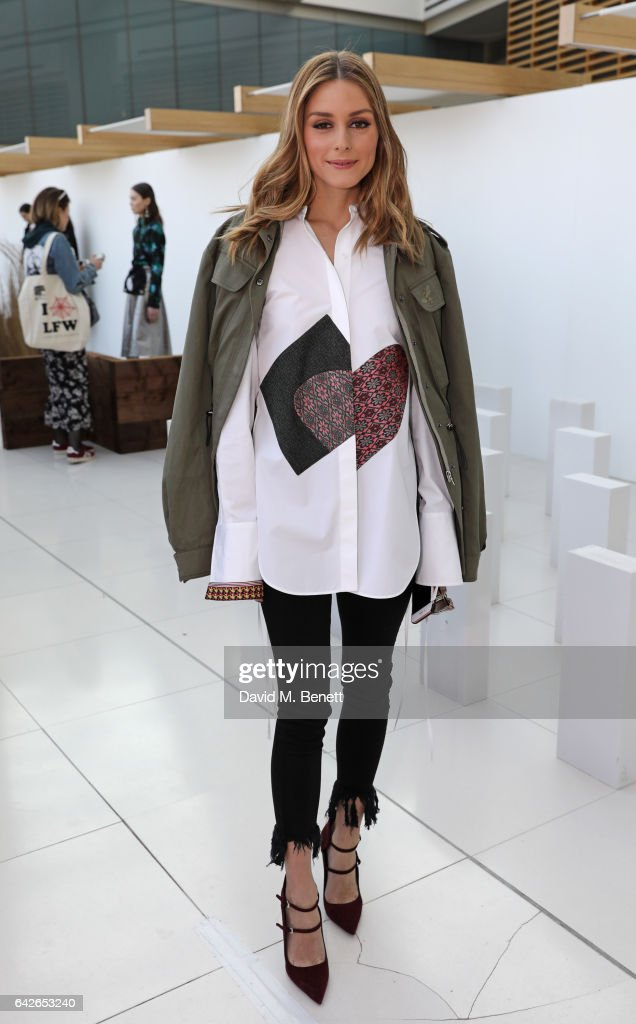 Olivia Palermo attends the Markus Lupfer presentation during the London Fashion Week February 2017 collections on February 18, 2017 in London, England.