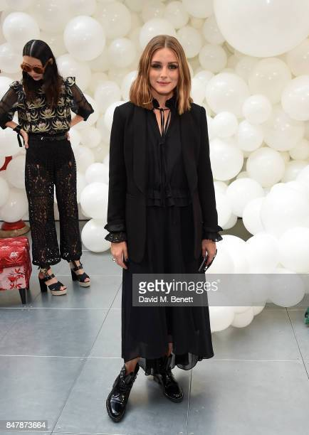 Olivia Palermo attends the Markus Lupfer SS18 presentation during London Fashion Week September 2017 on September 16 2017 in London United Kingdom