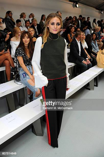 Olivia Palermo attends the Mary Katrantzou show during London Fashion Week Spring/Summer collections 2017 on September 18 2016 in London United...