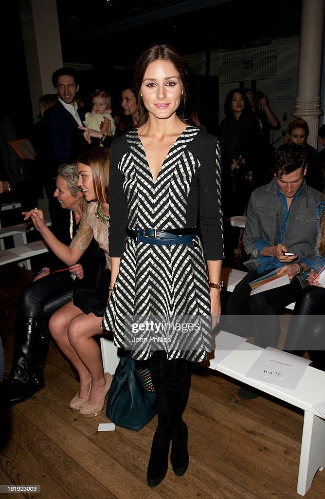 <a gi-track='captionPersonalityLinkClicked' href=/galleries/search?phrase=Olivia+Palermo&family=editorial&specificpeople=2639086 ng-click='$event.stopPropagation()'>Olivia Palermo</a> attends the Matthew Williamson show during London Fashion Week Fall/Winter 2013/14 on February 17, 2013 in London, England.
