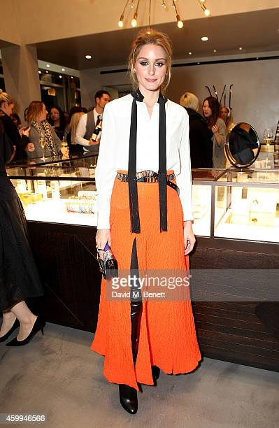 Olivia Palermo attends the Monica Vinader Flagship Store Opening on December 4 2014 in London England