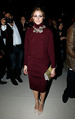 Olivia Palermo attends the Nina Ricci show as part of the Paris Fashion Week Womenswear Spring/Summer 2015 on September 25 2014 in Paris France