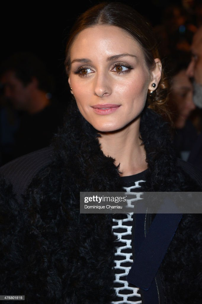 Olivia Palermo attends the Nina Ricci show as part of the Paris Fashion Week Womenswear Fall/Winter 2014-2015 on February 27, 2014 in Paris, France.