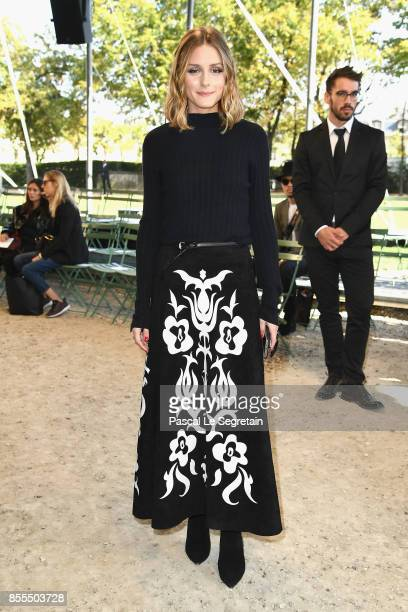 Olivia Palermo attends the Nina Ricci show as part of the Paris Fashion Week Womenswear Spring/Summer 2018 on September 29 2017 in Paris France