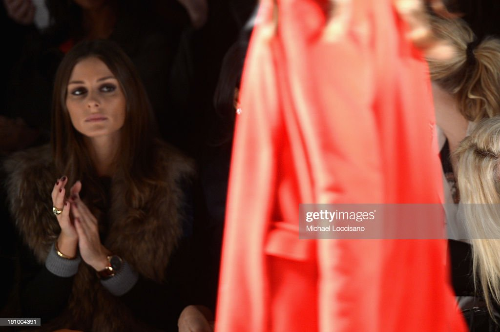 <a gi-track='captionPersonalityLinkClicked' href=/galleries/search?phrase=Olivia+Palermo&family=editorial&specificpeople=2639086 ng-click='$event.stopPropagation()'>Olivia Palermo</a> attends the Noon By Noor Fall 2013 fashion show during Mercedes-Benz Fashion at The Studio at Lincoln Center on February 8, 2013 in New York City.