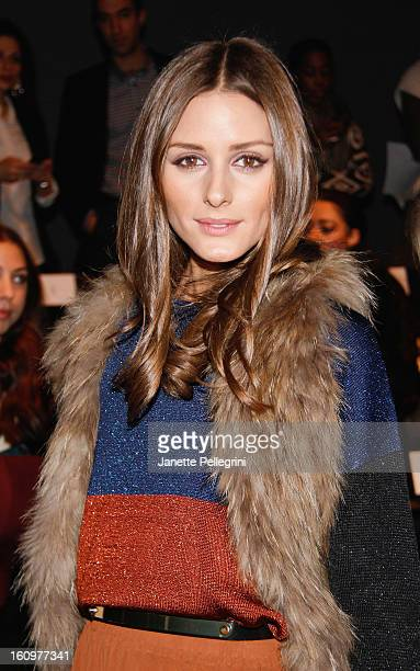 Olivia Palermo attends the Noon By Noor Fall 2013 MercedesBenz Fashion Show at The Theater at Lincoln Center on February 8 2013 in New York City