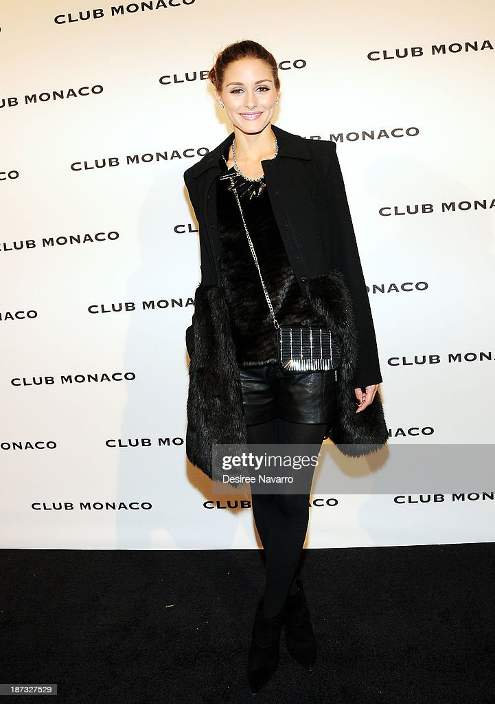 Olivia Palermo attends the opening celebration of Club Monoco's Fifth Avenue Flagship at Club Monaco Fifth Avenue on November 7, 2013 in New York City.
