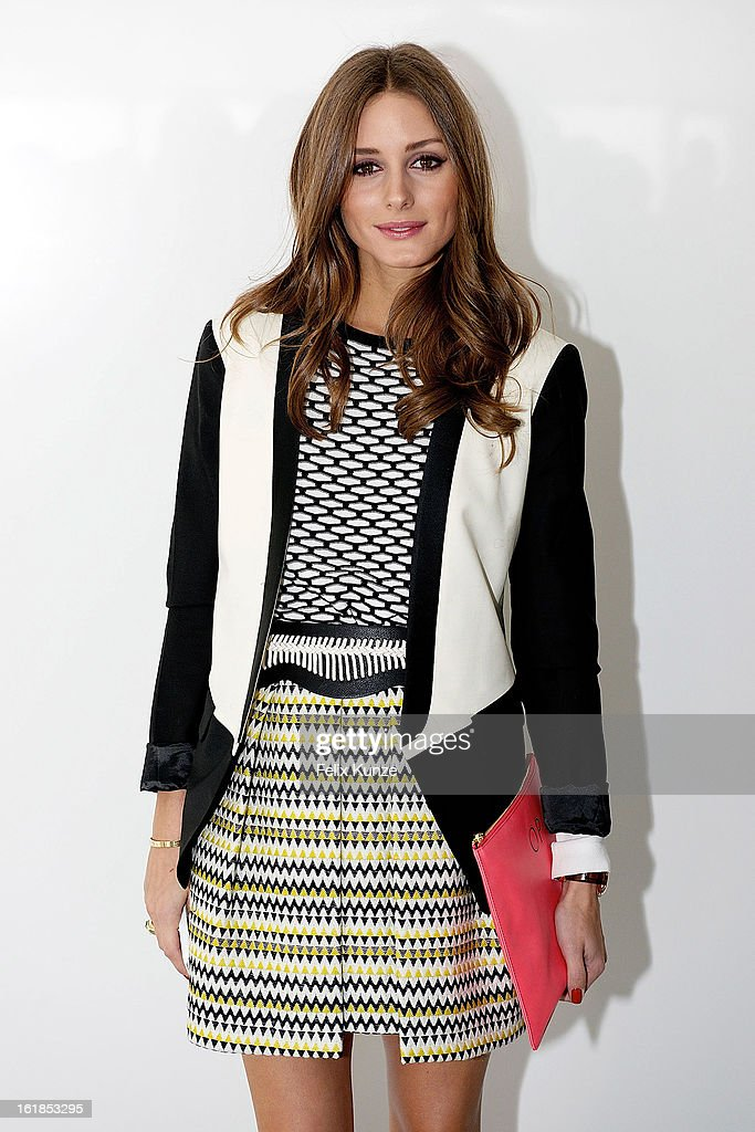 <a gi-track='captionPersonalityLinkClicked' href=/galleries/search?phrase=Olivia+Palermo&family=editorial&specificpeople=2639086 ng-click='$event.stopPropagation()'>Olivia Palermo</a> attends the Preen By Thornton Bregazzi show during London Fashion Week Fall/Winter 2013/14 at on February 17, 2013 in London, England.