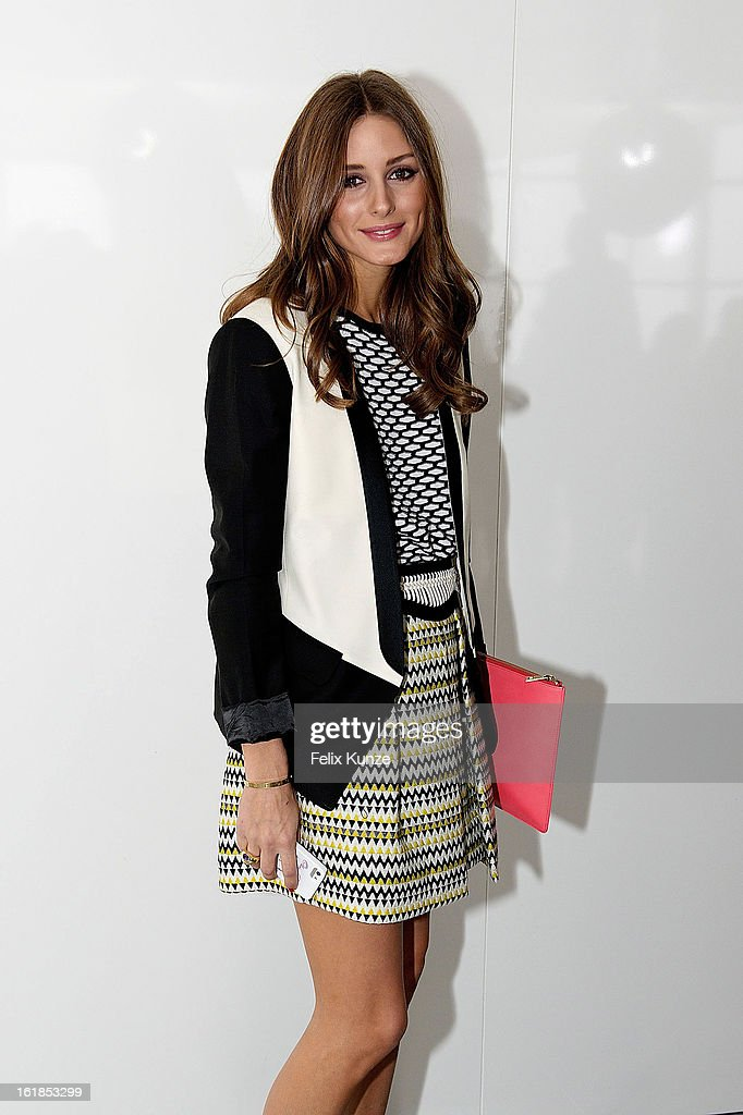Olivia Palermo attends the Preen By Thornton Bregazzi show during London Fashion Week Fall/Winter 2013/14 at on February 17, 2013 in London, England.