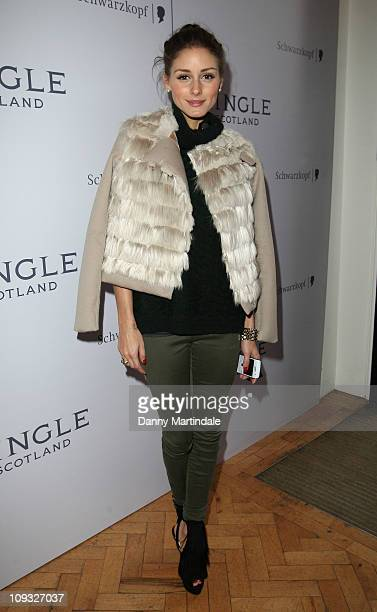 Olivia Palermo attends the Pringle of Scotland show during London Fashion Week Autumn/Winter 2011 on February 21 2011 in London England