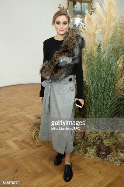 Olivia Palermo attends the Pringle of Scotland show during London Fashion Week September 2017 on September 18 2017 in London England