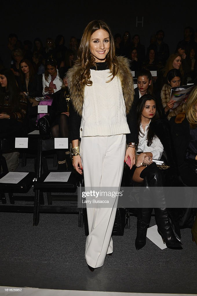 Olivia Palermo attends the Rachel Zoe Fall 2013 fashion show during Mercedes-Benz Fashion Week at The Studio at Lincoln Center on February 13, 2013 in New York City.