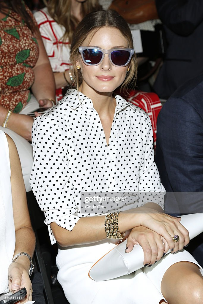 <a gi-track='captionPersonalityLinkClicked' href=/galleries/search?phrase=Olivia+Palermo&family=editorial&specificpeople=2639086 ng-click='$event.stopPropagation()'>Olivia Palermo</a> attends the Rachel Zoe fashion show during Mercedes-Benz Fashion Week Spring 2014 at The Studio at Lincoln Center on September 11, 2013 in New York City.