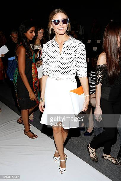 Olivia Palermo attends the Rachel Zoe fashion show during MercedesBenz Fashion Week Spring 2014 at The Studio at Lincoln Center on September 11 2013...