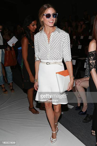 Olivia Palermo attends the Rachel Zoe show during Spring 2014 MercedesBenz Fashion Week at The Studio at Lincoln Center on September 11 2013 in New...