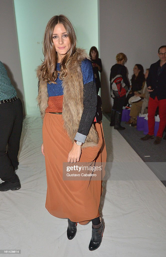 Olivia Palermo attends the Red Carpet Manicure - Exclusive Nails of Noon by Noor at The Studio at Lincoln Center on February 8, 2013 in New York City.