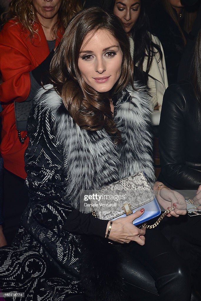 <a gi-track='captionPersonalityLinkClicked' href=/galleries/search?phrase=Olivia+Palermo&family=editorial&specificpeople=2639086 ng-click='$event.stopPropagation()'>Olivia Palermo</a> attends the Roberto Cavalli fashion show during Milan Fashion Week Womenswear Fall/Winter 2013/14 on February 22, 2013 in Milan, Italy.