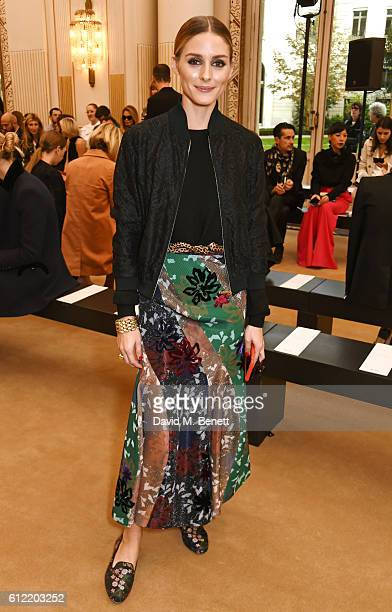 Olivia Palermo attends the Roland Mouret show as part of the Paris Fashion Week Womenswear Spring/Summer 2017 on October 2 2016 in Paris France