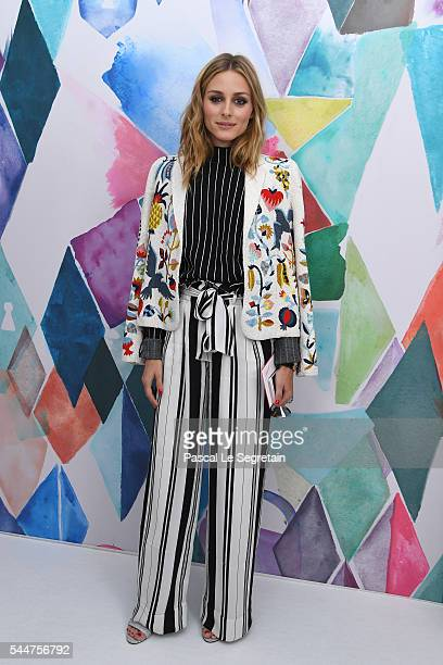 Olivia Palermo attends the Schiaparelli Haute Couture Fall/Winter 20162017 show as part of Paris Fashion Week on July 4 2016 in Paris France