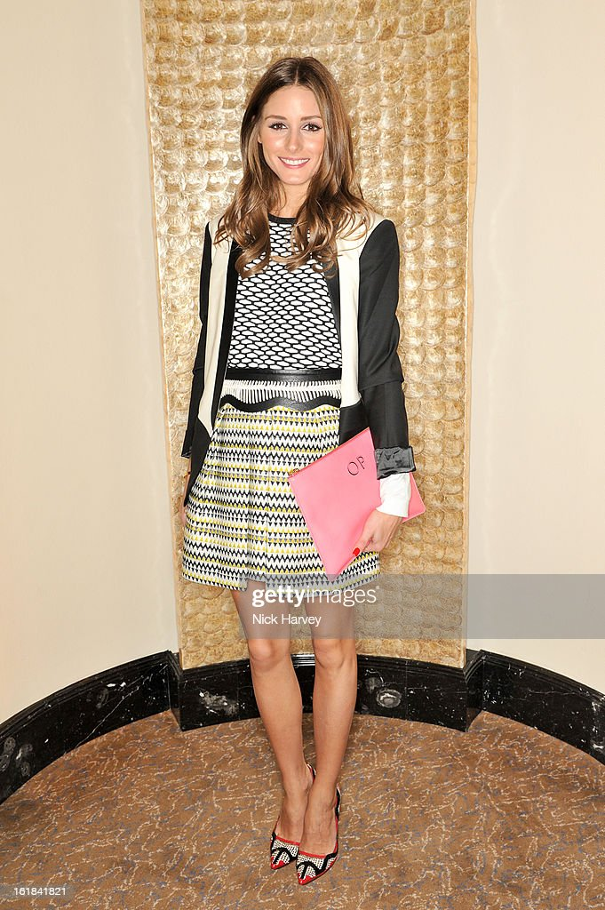 <a gi-track='captionPersonalityLinkClicked' href=/galleries/search?phrase=Olivia+Palermo&family=editorial&specificpeople=2639086 ng-click='$event.stopPropagation()'>Olivia Palermo</a> attends the Temperley London show during London Fashion Week Fall/Winter 2013/14 at The Dorchester Hotel on February 17, 2013 in London, England.